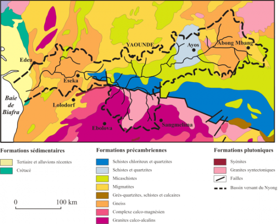 Figure 2. Geology map of the Nyong watershed