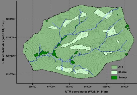 Figure 7. Vegetation map of the Mule Hole watershed