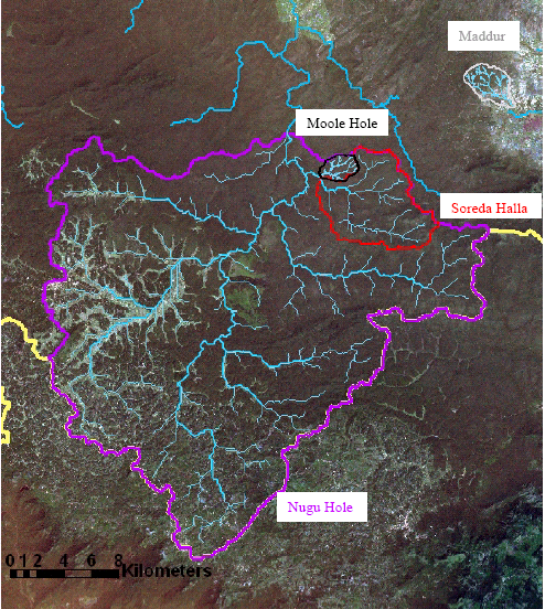 Figure 9. Large scale monitored watersheds