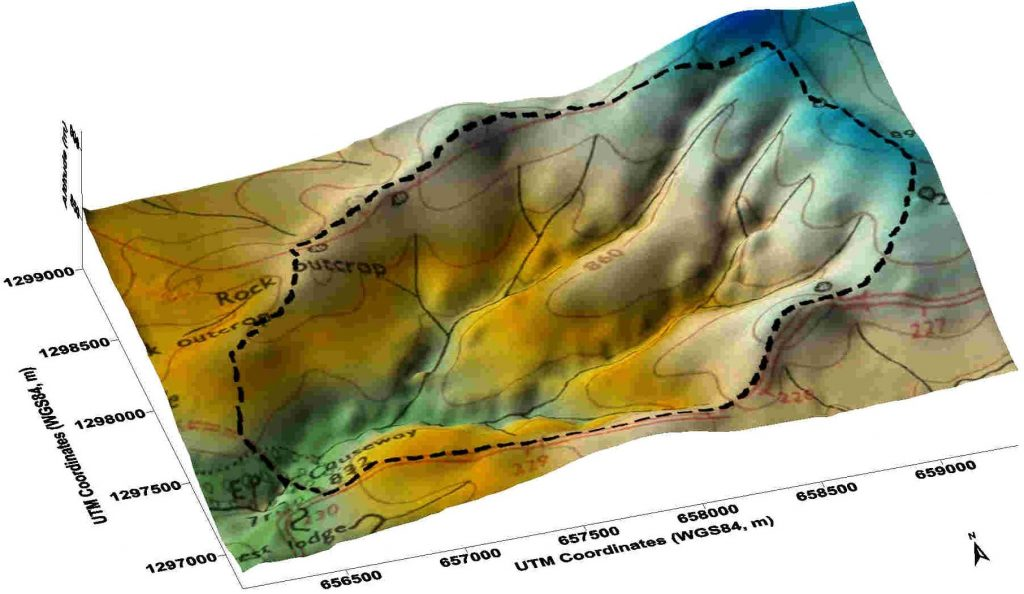 Figure 1. The Mule Hole watershed